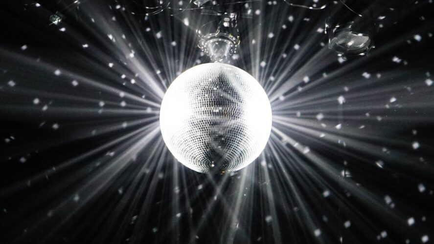 A disco ball for harmonica dance music parties